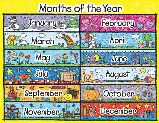 Posters de los meses del año para imprimir